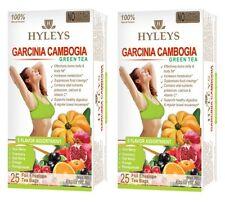 2 packs of Hyleys Slim Tea NO GMO 5 FLAVOR 100% Natural 25 tea bags, FREE SHIP