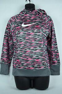 NWT Nike Youth Sweatshirt Therma Fit Hoodie 823921 012 sz S-XL pink gray