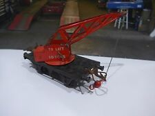 Vintage tinplate Hornby railway crane wagon made by Meccano in England {no box}