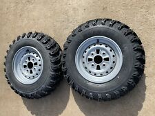 ATV FRONT RIMS & TYRES PACKAGE 23 x 8 x 11 AMS SWAMP FOX TRX 300 250 OZARK