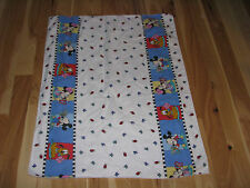 VINTAGE BABY BLANKET PRIMARY COLOR DISNEY BABIES BUTTERFLY LADYBUG MICKEY MINNIE
