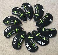 10X Black&Green Neoprene Callaway EPIC Golf Club Iron Covers HeadCovers UK Stock