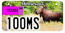 ATV / UTV license plate 100 MOOSE