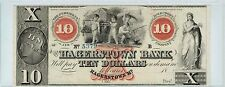 Hagerstown Bank Maryland $10 Bank Note Semi Nude Children Play W Wheat Red X OVP