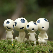 4pcs Princess Mononoke Forest Spirit Elf Kodama Terrarium Garden Resin Figures
