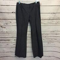 Ann Taylor Loft Womens 10 Julie Wide Leg Trouser Gray Dress Pants Career B21