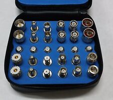 30pcs WiFi + Standard Universal RF Coaxial Adapter Kit N TNC SMA BNC UHF MiniUHF