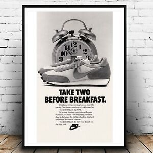 NIKE Vintage Ad Fashion A3 Poster, Wall Art, Prints for Walls, Home Decor