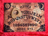 Wooden Ouija Board Game Planchette Instructions Spirit Hunt Bizarre Ghost