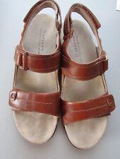 Aravon by New Balance Leather Sandals Brown 9M