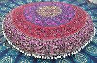 New 82Cm Indian Mandala Floor Pillow Meditation Round Cushion Cover Home Decor
