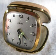 Vintage 1960-70s Starlet Wind-up Travel Clock With Alarm.Good Working Condition.