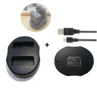 DUAL USB Charger for Nikon EN-EL15 Battery D600 D7000 D7100 D800 D800E D11 Grip