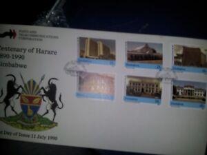 Zimbabwe 1990 centenary of harara First Day Cover