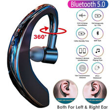 Wireless Bluetooth 5.0 Earpiece Headset Driving Trucker Earbuds Noise Cancelling