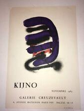 KIJNO AFFICHE lithographie Galerie Creuzevault 1963 Cre