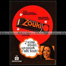 ZOUKI Côte d'OR 1976 Vintage Chocolate Candy Bar - Pub Publicité / Ad #A706