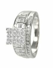 Cinderella Engagement Ring Princess Cut Sterling Silver Cubic Zirconia