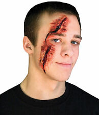 Gory Wound Slashed Eye 2 Pc Latex Prosthetic Appliance Costume Makeup Fa233