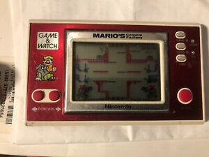 Nintendo Game & Watch MARIO'S CEMENT FACTORY ML-102 Wide Screen