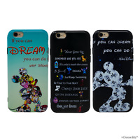Disney Quotes Gel Case for Apple iPhone 6 6s 7 8 X XS Silicone Cover