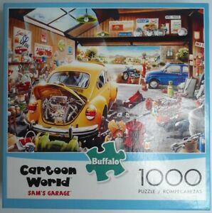Buffalo Cartoon World Sam's Garage Jigsaw Puzzle 1000 Piece New Sealed