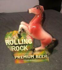Vintage Rolling Rock Premium Beer Chalk Horse Advertising Statue Figure