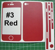 iPhone 4 - Coloured Matte Carbon Fiber Full Body Skin sticker