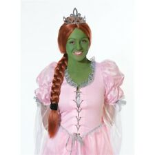 Ginger Princess Wig With Tiara - Fancy Dress Accessory Fiona Shrek Hat