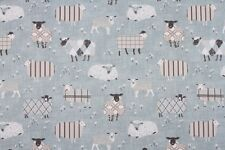 Iliv Baa Baa Duck Egg Fabric Remnant 100% Cotton 50cm x 40cm