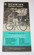 Vintage 1970 Schwin Bicycles Owner's Manual Sting Ray Krate Fastback Slik Chik