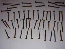 "(75) 1-3/8"" 1.375"" 25.3 Mm square head nails antique nails unused"