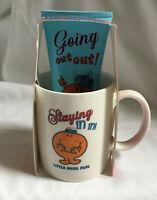 "Little Miss Fun Mug & 100ml Shower Wash GIFT SET ""Staying in in"""
