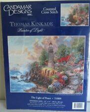 """""""The Light of Peace"""" Thomas Kinkade Embellished Stitch Kit Candamar 51009-NEW!"""