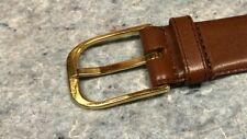 Vintage Yves Saint Laurent YSL Men's Leather Dress Belt Sz 36 - GREAT Shape!!!