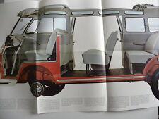 Rare catalogue / brochure VOLKSWAGEN COMBI VW pour USA