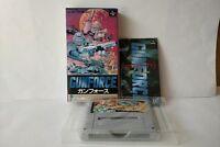 GUNFORCE BATTLE FIRE ENCULFED TERROR ISLAND Super Famicom(SNES) Boxed -a1015-