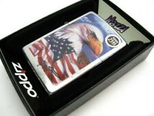 Zippo 24764 Street Chrome Mazzi American Flag & Eagle Windproof Lighter