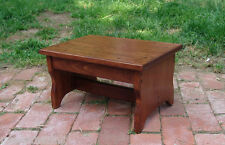 "Choose Stain 11x16 8.5"" Handcrafted HeavyDuty Solid Wood Step Stool Bedside Foot"