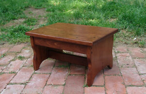 """Choose Stain 11x16 8.5"""" Handcrafted HeavyDuty Solid Wood Step Stool Bedside Foot"""