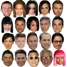 CELEBRITY FACE PARTY MASK FANCY DRESS STAG DO HEN NIGHT BIRTHDAY MASKS FUN NEW