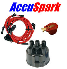 Austin Mini MKI 1000 Mayfair 8mm HT Leads Distributor Cap & AccuSparkRed Rotor