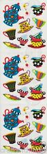 VINTAGE Sandylion Very Rare RETRO TEA SET Scarpbooking Stickers *FAST SHIP* G23