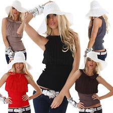 Klassische ärmellose Damenblusen, - tops & -shirts aus Viskose für Party-Anlässe