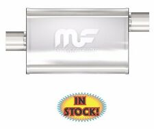 "Magnaflow 4 x 9 x 14 Oval Polished Muffler 2.5"" Center / Offset - 14326"