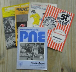 5 Tranmere Rovers Away Football Programmes – 1976-1978 – All Listed