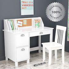 School Kids Desk and Chair Child Study Drawer Table Set Wood Art & Craft Storage