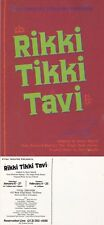 RIKKI TIKKI TAVI A PLAY UNUSED ADVERTISING COLOUR POSTCARD