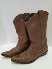 Ladies Harley Davidson Pointed Toe Leather Riding Boots Red Sole Sz 5-6 Eur 36