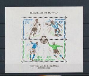 LO13035 Monaco 1982 football cup soccer good sheet MNH